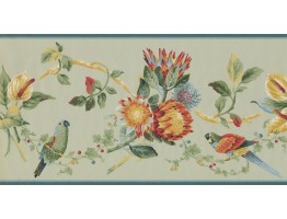 Prepasted Wallpaper Borders - Birds Wall Paper Border LH2033B