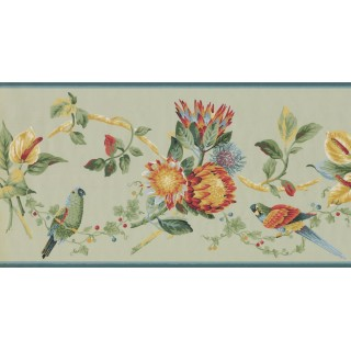 10 1/4 in x 15 ft Prepasted Wallpaper Borders - Birds Wall Paper Border LH2033B