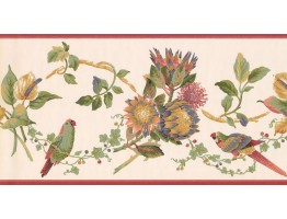 Prepasted Wallpaper Borders - Birds Wall Paper Border LH2034B