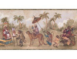 Prepasted Wallpaper Borders - Animals Wall Paper Border LH2114B