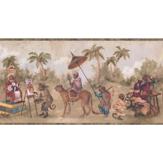 10 1/4 in x 15 ft Prepasted Wallpaper Borders - Animals Wall Paper Border LH2114B