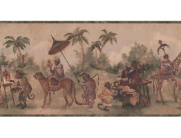 10 1/2 in x 15 ft Prepasted Wallpaper Borders - Jungle Animals Wall Paper Border LH2115B