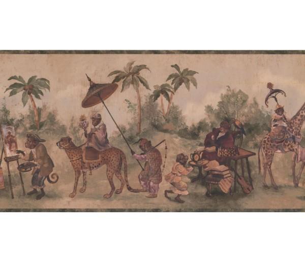 New  Arrivals Wall Borders: Jungle Animals Wallpaper Border LH2115B
