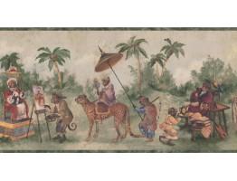 Prepasted Wallpaper Borders - Jungle Animals Wall Paper Border LH2116B