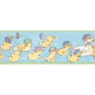 7 in x 15 ft Prepasted Wallpaper Borders - Duck Wall Paper Border LK1435B