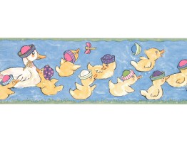 Prepasted Wallpaper Borders - Duck Wall Paper Border LK1437B