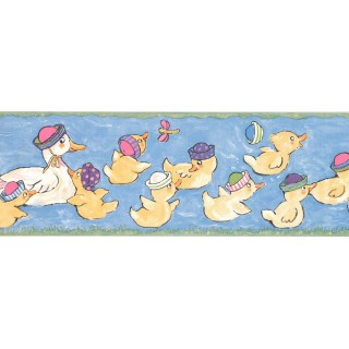 7 in x 15 ft Prepasted Wallpaper Borders - Duck Wall Paper Border LK1437B