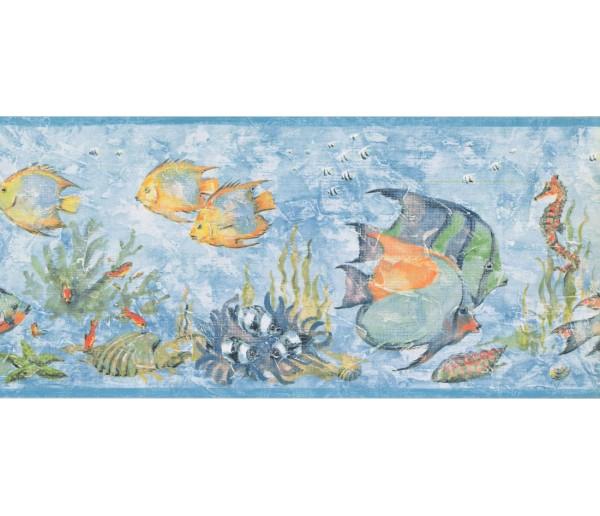 Prepasted Wallpaper Borders - Fish Wall Paper Border LK1580B