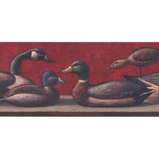 9 1/4 in x 15 ft Prepasted Wallpaper Borders - Duck Wall Paper Border LM8998B