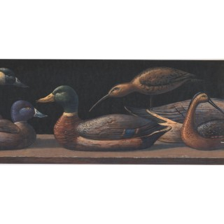 9 1/4 in x 15 ft Prepasted Wallpaper Borders - Duck Wall Paper Border LM9002B