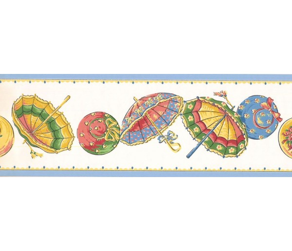 New  Arrivals Wall Borders: Umbrella Wallpaper Border LT9400B