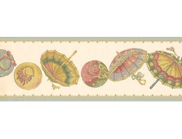 Umbrella Wallpaper Border LT9401B
