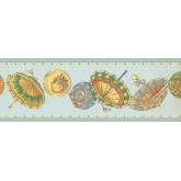 New  Arrivals Wall Borders: Umbrella Wallpaper Border LT9403B