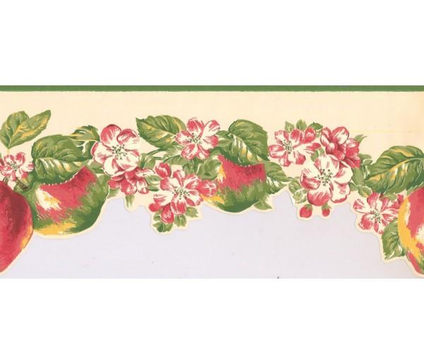 New  Arrivals Wall Borders: Fruits and Flower Wallpaper Border LT9460B
