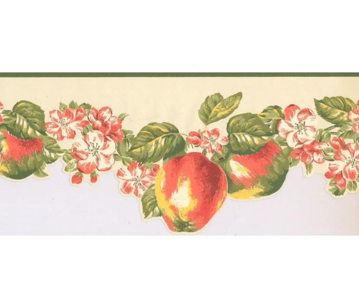 New  Arrivals Wall Borders: Fruits and Flower Wallpaper Border LT9461B