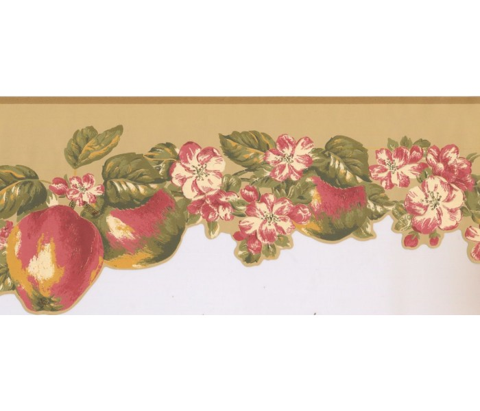 New  Arrivals Wall Borders: Fruits and Flower Wallpaper Border LT9462B