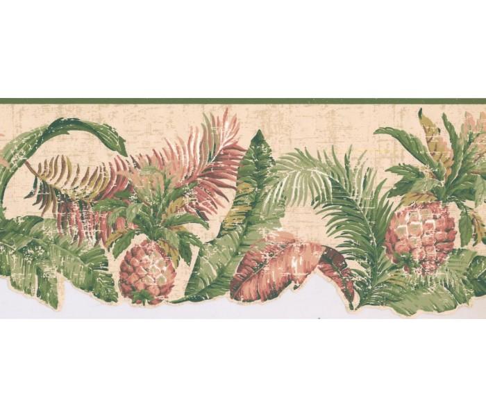 New  Arrivals Wall Borders: Pineapple Fruits Wallpaper Border LT9466B
