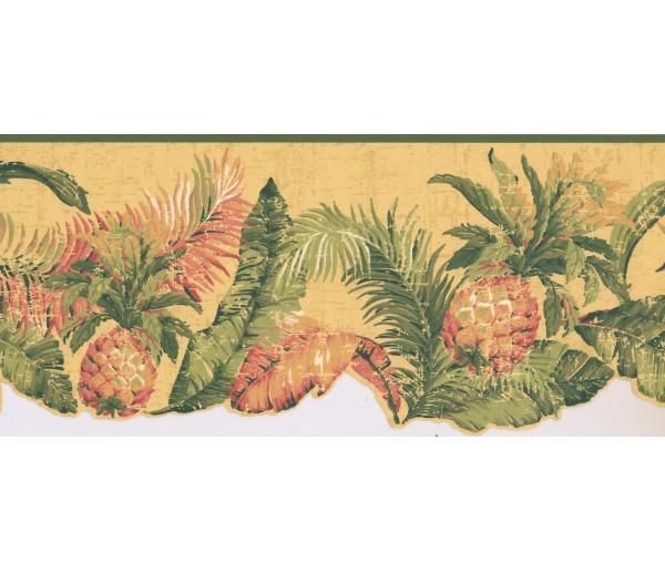 New  Arrivals Wall Borders: Pineapple Fruits Wallpaper Border LT9469B