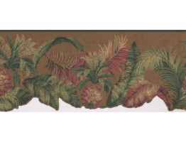 Prepasted Wallpaper Borders - Pineapple Fruits Wall Paper Border LT9471B