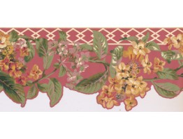 9 in x 15 ft Prepasted Wallpaper Borders - Floral Wall Paper Border LT9610B