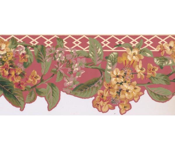 New  Arrivals Wall Borders: Floral Wallpaper Border LT9610B