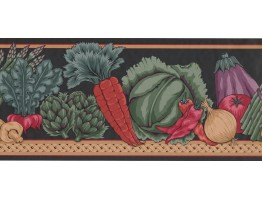 Prepasted Wallpaper Borders - Vegetables Wall Paper Border MD143