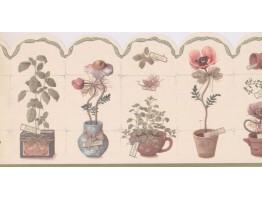 Garden Wallpaper Border MF008123B