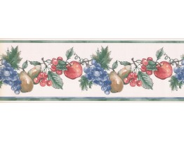 Prepasted Wallpaper Borders - Fruits Wall Paper Border MG2371B