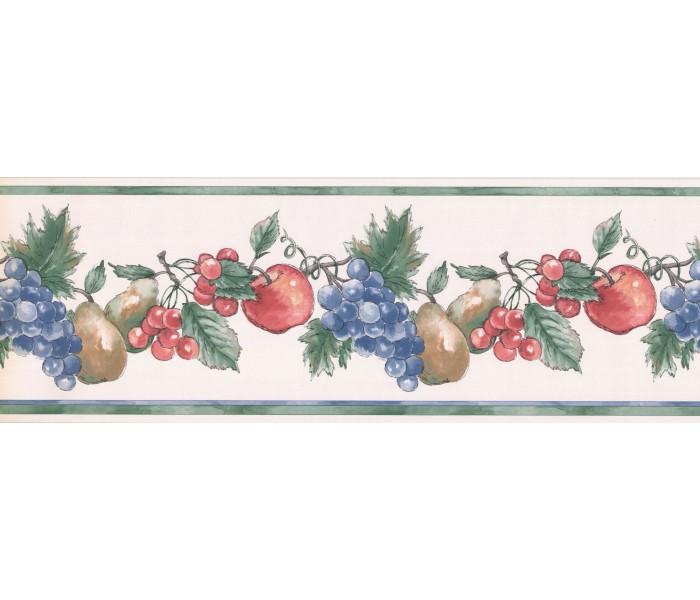 New  Arrivals Wall Borders: Fruits Wallpaper Border MG2371B