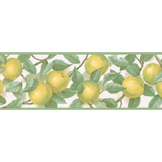 7 in x 15 ft Prepasted Wallpaper Borders - Fruits Wall Paper Border MK77657