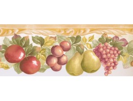 Prepasted Wallpaper Borders - Fruits Wall Paper Border MK77668
