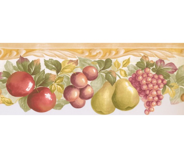 New  Arrivals Wall Borders: Fruits Wallpaper Border MK77668