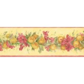 New  Arrivals Wall Borders: Fruits and Flower Wallpaper Border MK77671