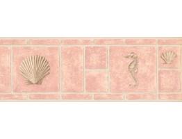 Conch and Sea Horse Wallpaper Border MKB5059
