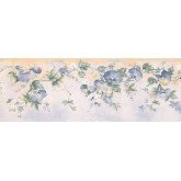 Prepasted Wallpaper Borders - Floral Wall Paper Border MKB5081