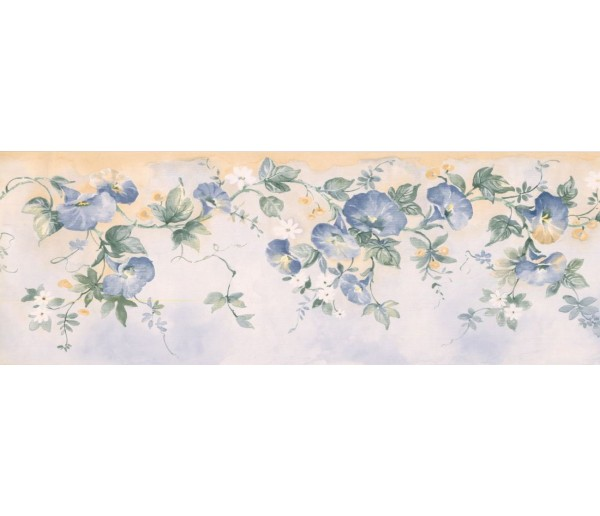 New  Arrivals Wall Borders: Floral Wallpaper Border MKB5081