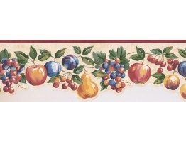 Prepasted Wallpaper Borders - Fruits Wall Paper Border MM74652B