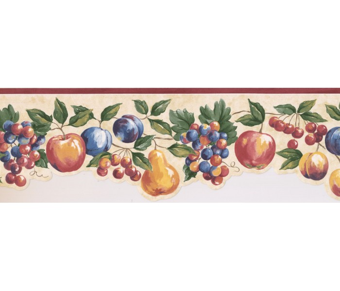 New  Arrivals Wall Borders: Fruits Wallpaper Border MM74652B