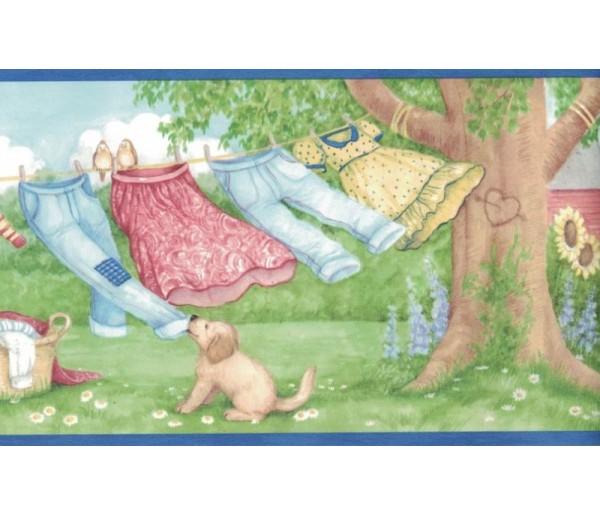 New  Arrivals Wall Borders: Laundry Wallpaper Border MN5011