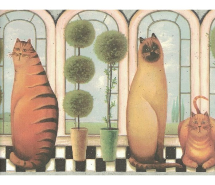 New  Arrivals Wall Borders: Cats Wallpaper Border MN5030