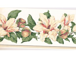 Prepasted Wallpaper Borders - Floral Wall Paper Border MV2908B