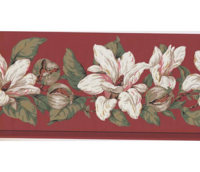 New  Arrivals Wall Borders: Floral Wallpaper Border MV2910B