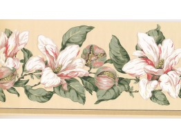 10 1/4 in x 15 ft Prepasted Wallpaper Borders - Floral Wall Paper Border MV2912B
