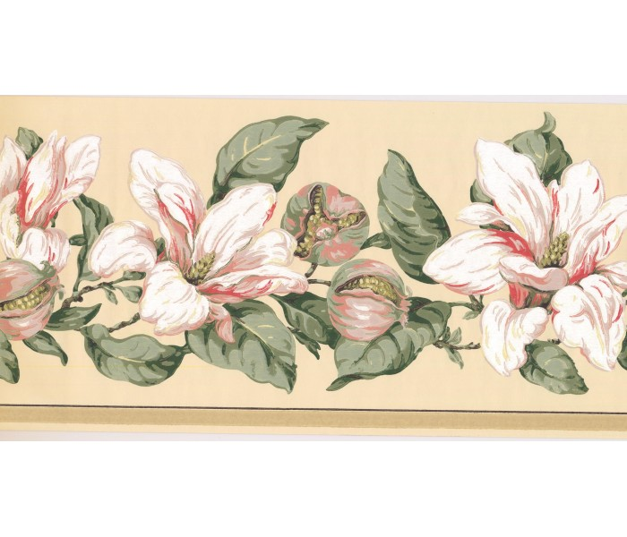 New  Arrivals Wall Borders: Floral Wallpaper Border MV2912B