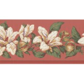 New  Arrivals Wall Borders: Floral Wallpaper Border MV2913B