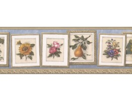Prepasted Wallpaper Borders - Floral Wall Paper Border MW30223B