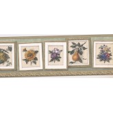 New  Arrivals Wall Borders: Floral Wallpaper Border MW30224B