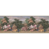 Prepasted Wallpaper Borders - Garden Wall Paper Border MW30234B