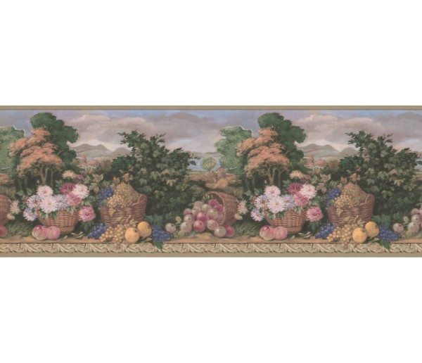 New  Arrivals Wall Borders: Garden Wallpaper Border MW30234B