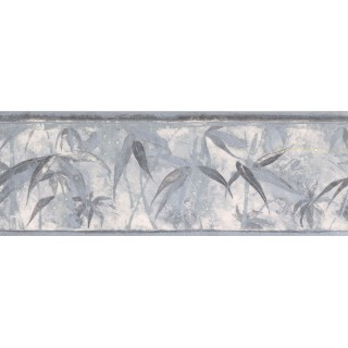 7 in x 15 ft Prepasted Wallpaper Borders - Leaves Wall Paper Border NB76952